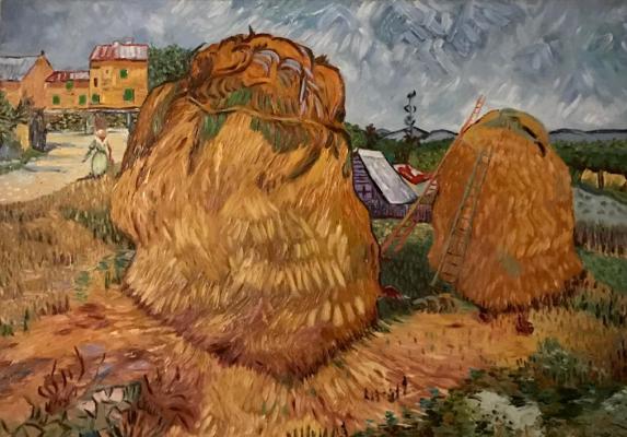 Inga Kotlyarskaya. Free copy of Vincent van Gogh