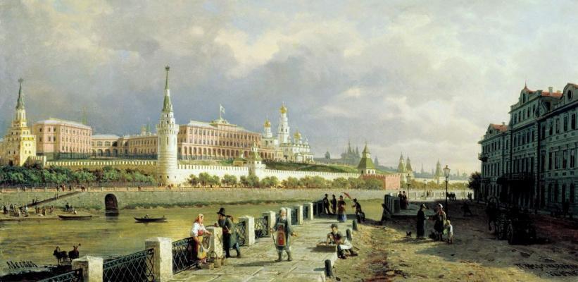 Petr Petrovich Vereshchagin. View of the Moscow Kremlin