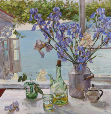 Natalia Gennadyevna Tour. Irises in cans
