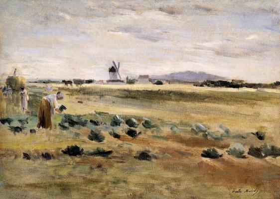 Berthe Morisot. The little windmill at Gennevilliers