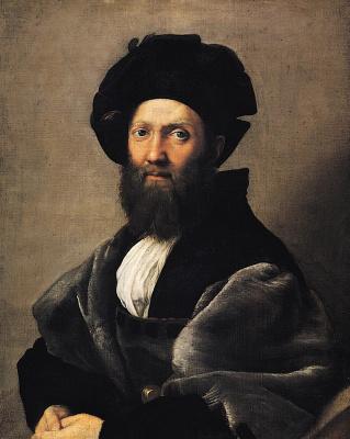 Raphael Santi. Portrait of count Baldassare Castiglione