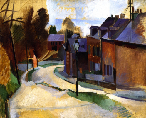 Robert Delaunay. Road in Laon