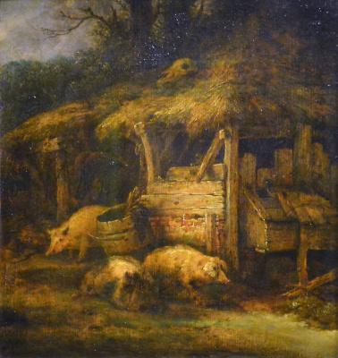 Isaac Jans van Ostade. Pigs