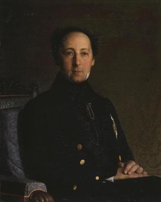 Sergey Konstantinovich Zaryanka. Portrait of Fyodor Ivanovich Pryanishnikov