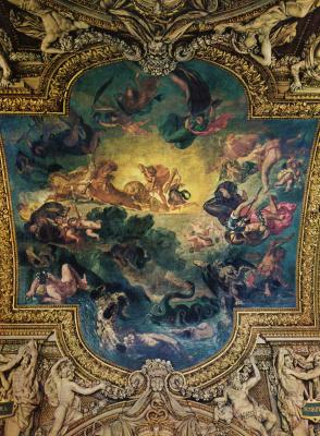 Eugene Delacroix. Apollo strikes the Python