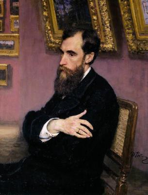 Ilya Efimovich Repin. Portrait Of P. M. Tretyakov