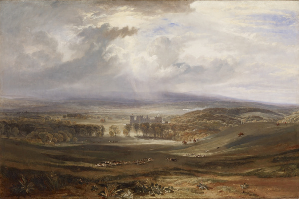 Joseph Mallord William Turner. Raby, castle, estate of the Earl of Darlington