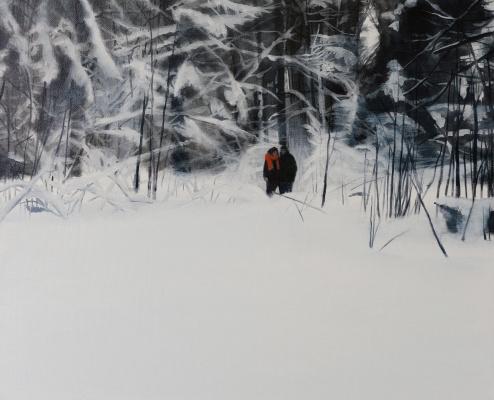 Евгения Евгеньевна Буравлева. Семейный портрет в лесу