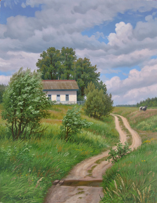 Alexander Vasilyevich Zoryukov. In the village of Pogost