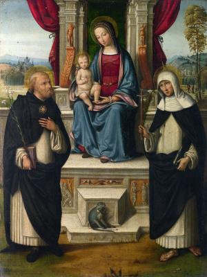 Гарофало. Дева с младенцем и святыми