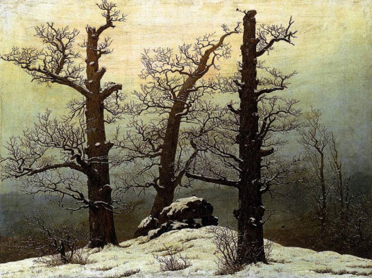 Caspar David Friedrich. Dolmen in the snow