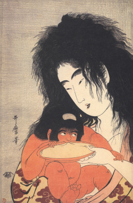 Kitagawa Utamaro. Yamauba treats Kintaro