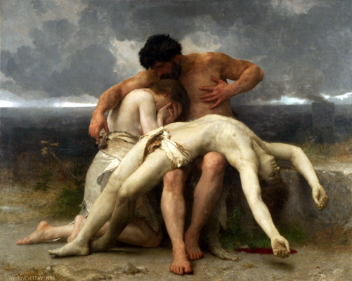William-Adolphe Bouguereau. The first mourning