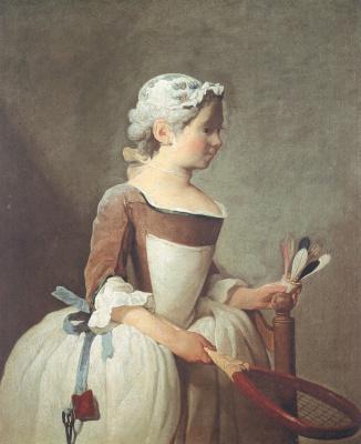 Jean Baptiste Simeon Chardin. Girl with shuttlecock
