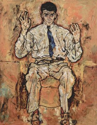 Egon Schiele. Portrait of albert Paris von gütersloh