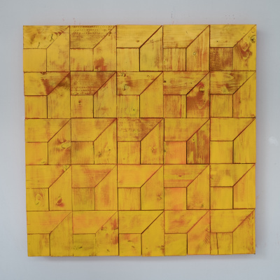 Koshtura Istvin. Object, square yellow-pink