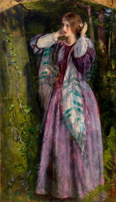 Arthur Hughes. Amy. Long relationship Etude
