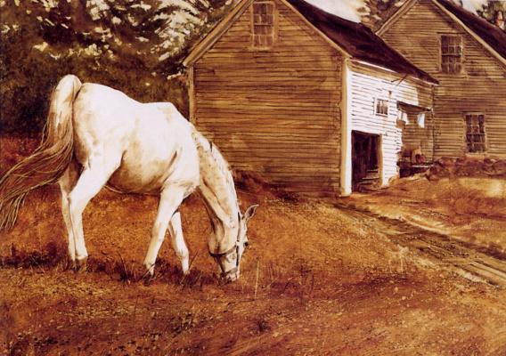 Жиль Аршамбо. Белая лошадь