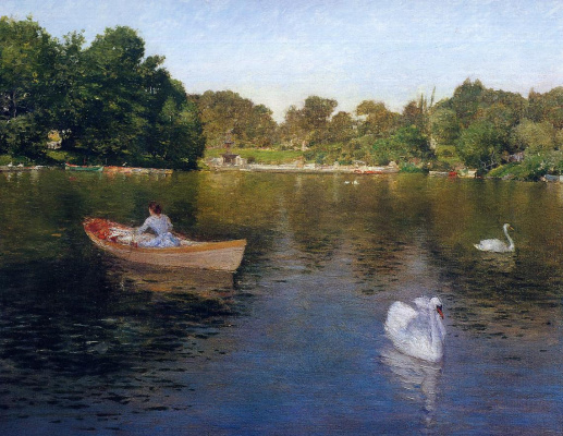 William Merritt Chase. On the lake in Central Park