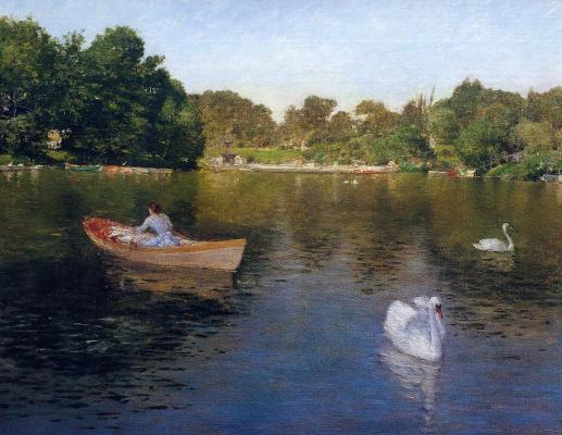 William Merritt Chase. On the lake in Central Park