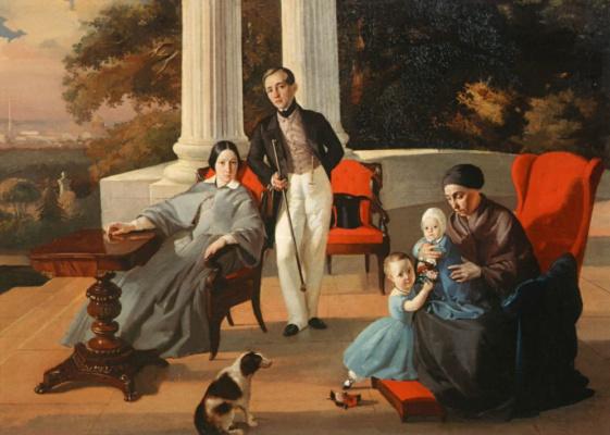 Evgraf Semenovich Sorokin. Family portrait