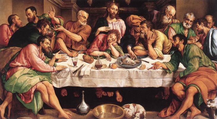 Jacopo da Ponte Bassano. The last supper