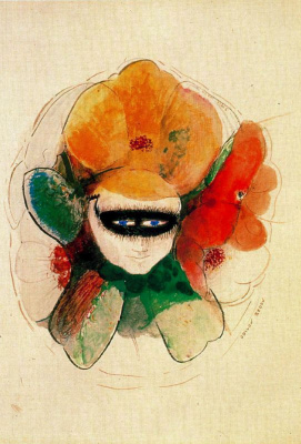 Odilon Redon. Anemone in the mask