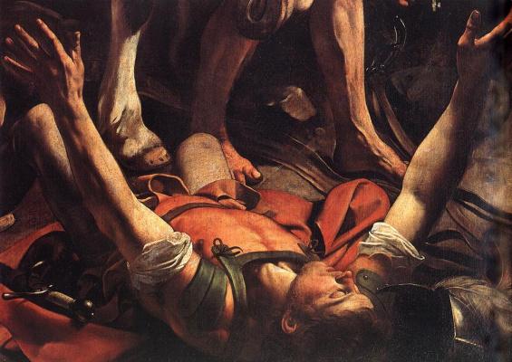Michelangelo Merisi de Caravaggio. The Appeal Of St. Saul. Fragment