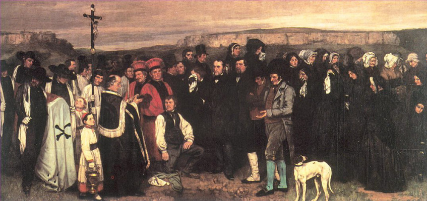 Gustave Courbet. Burial in Ornans