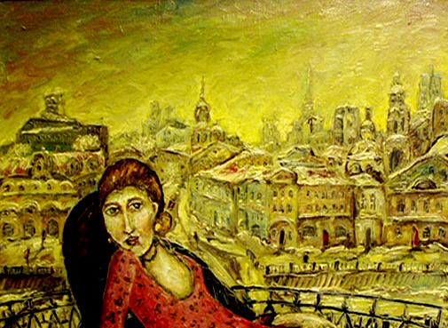 Zoya Grigoryevna Yaremenko (YarkO). Winter balcony.Mlsca