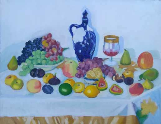 Elena Anatolyevna Seyfi. Still life with fruits.