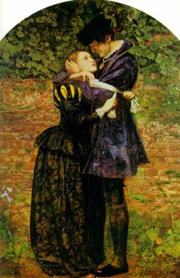 John Everett Millais. In the Huguenot St. Bartholomew's day