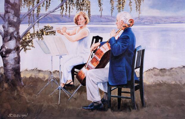 Карл Шладеман. Музыка у озера
