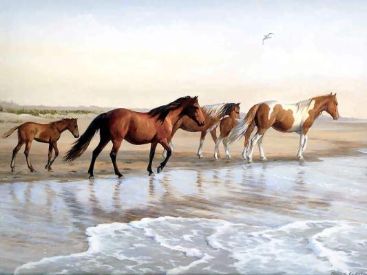 Пэрис Клейтон Вейрс. Бег лошадей