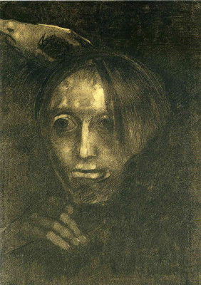 Odilon Redon. Male head