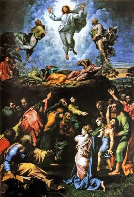 Рафаэль Санти. Преображение Христа