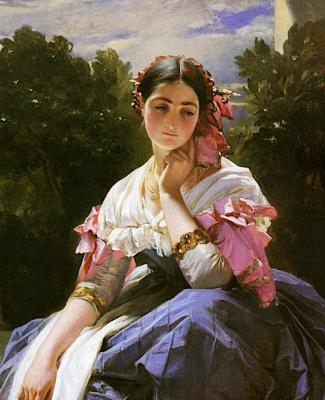 Герман Винтерхальтер. Молодая итальянская девушка из Ариччи. Фрагмент