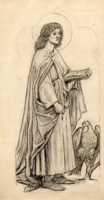 Форд Мэдокс Браун. Святой Иоанн. Эскиз для витража
