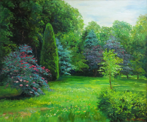 Marina Dmitrievna Razin. English style park