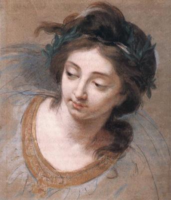 Elizabeth Vigee Le Brun. Head of a woman