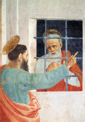 Филиппино Липпи. Святой Петр посетил в тюрьме  Святого Павла