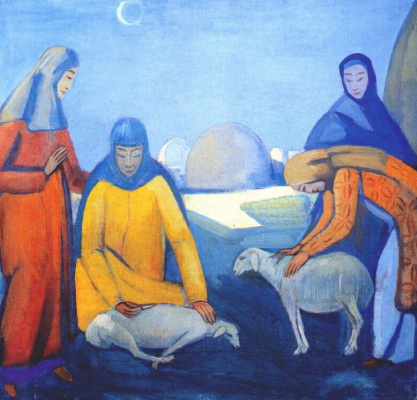 Pavel Varfolomeevich Kuznetsov. Sheep shearing
