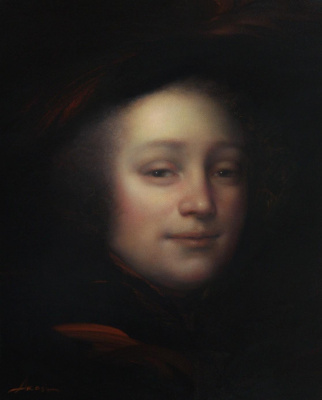 Ольга Акаси. Portrait of Blaise Pascal, philosopher and mathematician
