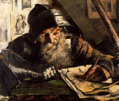 Lovis Corinto. The old man wrote a letter