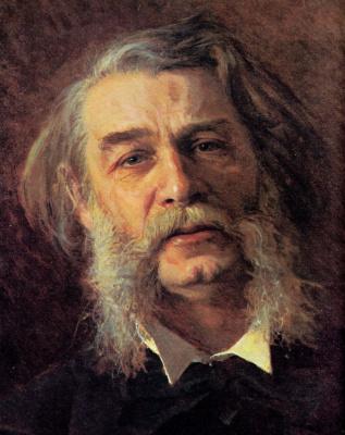Ivan Nikolayevich Kramskoy. Portrait of writer Dmitry Vasilievich Grigorovich. Fragment