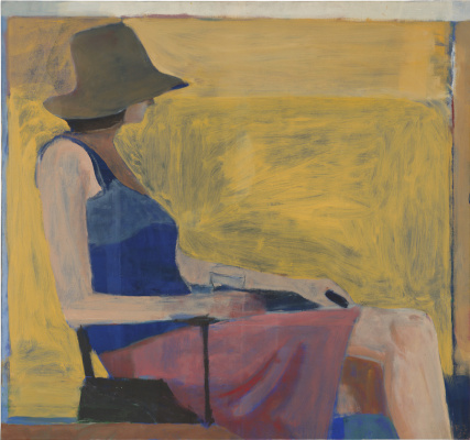 Richard Dibenkorn. Sitting figure in a hat