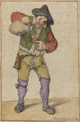Корнелис Дюсарт. Крестьянин, наполняющий стакан