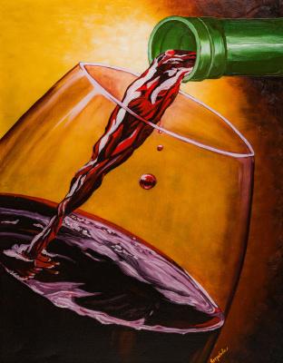 Arina Yuryevna Yastrebova. The wine is pouring