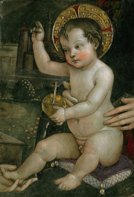 "Pinturicchio. ""Baby hands"". Fresco fragment from the Apartment Borgia"