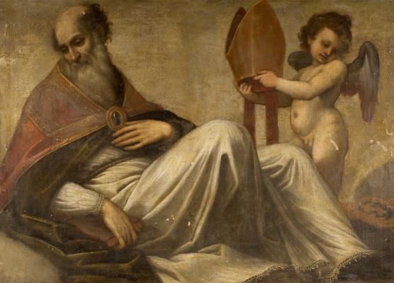 Джакомо Пальма Младший. Епископ с ангелом и книгой